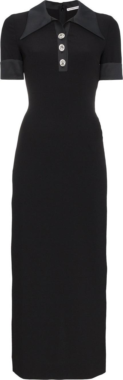 Alessandra Rich Button down polo shirt dress
