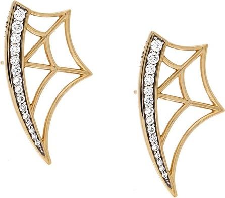Gisele For Eshvi diamond web earrings