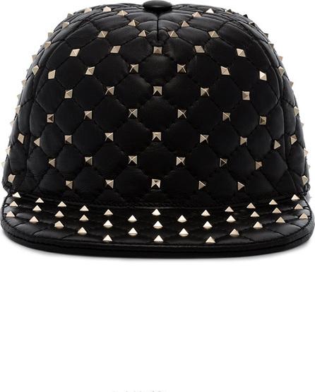 Valentino Black Rockstud leather cap