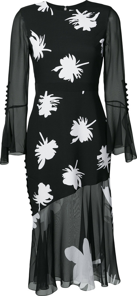 Prabal Gurung Floral print ruffle dress