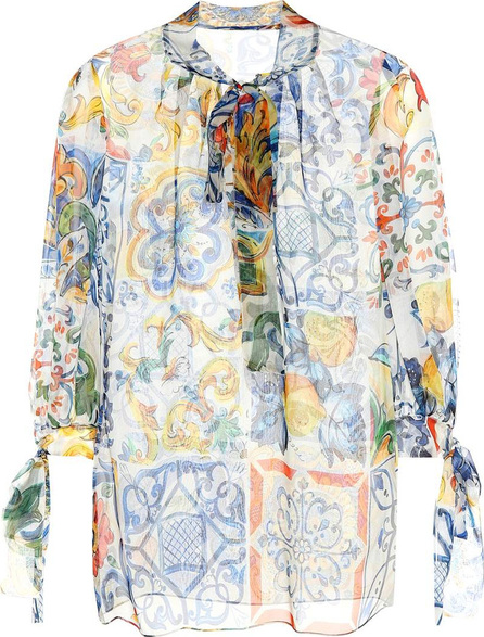 Dolce & Gabbana Majolica silk chiffon top