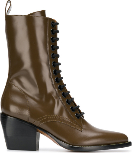 Chloe Chunky heel lace up boots