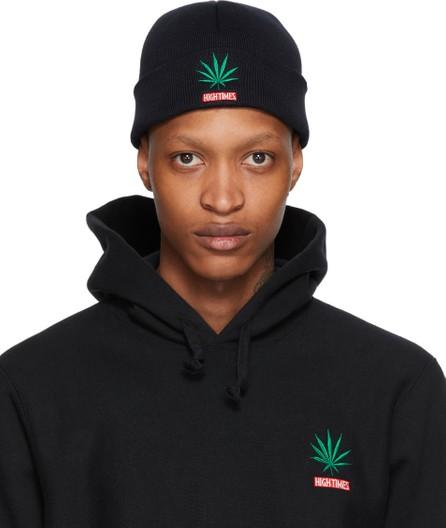 Wacko Maria Black High Times Edition Weed Beanie