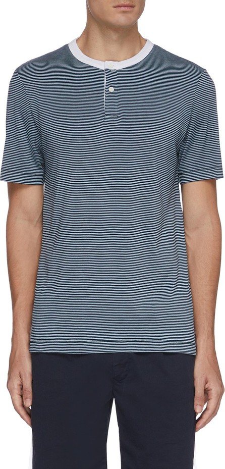 Theory Gaskell striped henley T-shirt