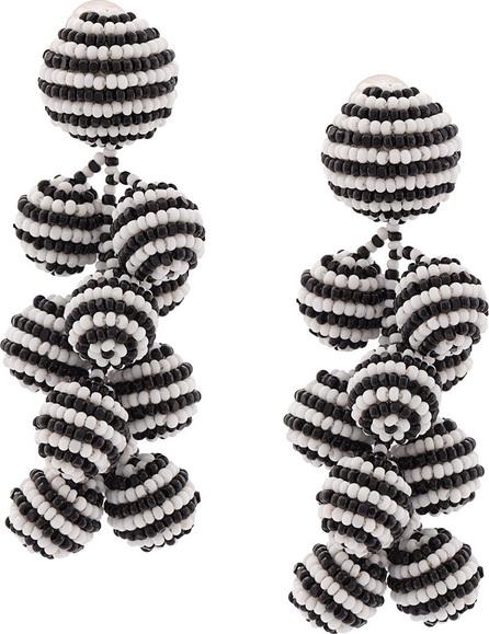 Sachin & Babi Coconuts striped clip-on earrings