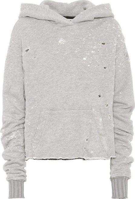 Amiri Cotton-blend hooded sweatshirt