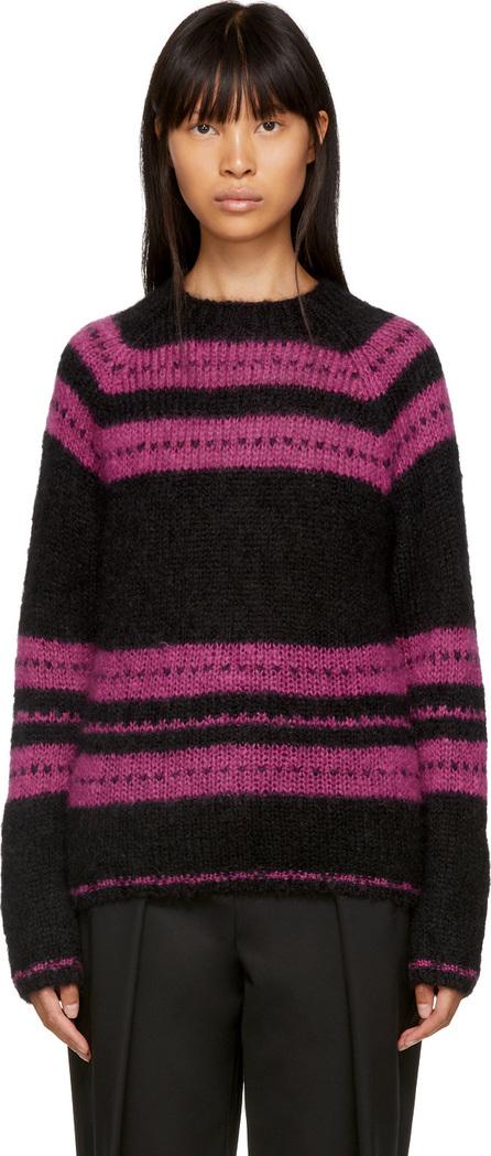 Alexachung Black & Pink Stripe Pullover
