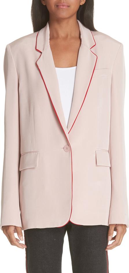 Stella McCartney Contrast Piping Silk Blazer