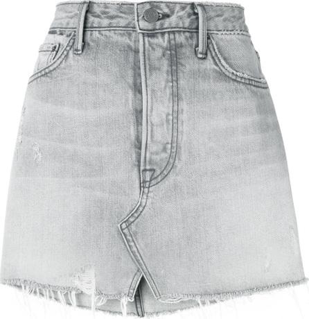 Grlfrnd Distressed denim skirt