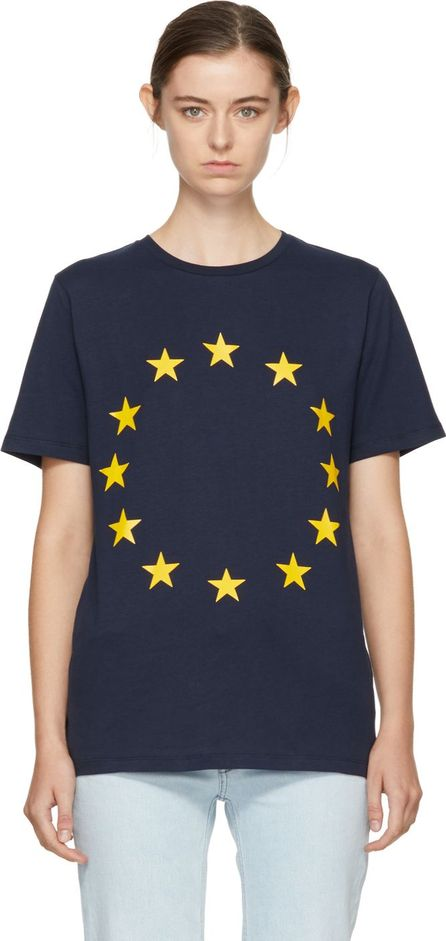 Etudes Navy Page Europa T-Shirt