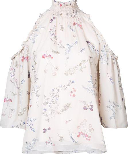 Rachel Zoe floral print cold-shoulder blouse