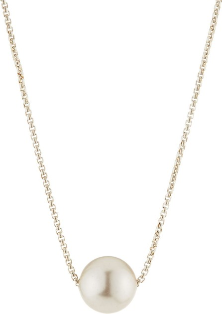 Alex and Ani Sea Sultry Pearly Adjustable Necklace, Silver