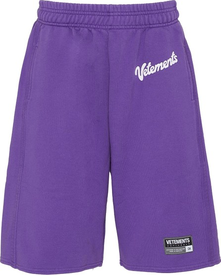 Vetements 'Milka' logo patch sweatshorts