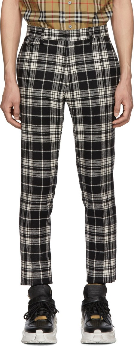 Burberry London England Black & White Check Serpentine Trousers