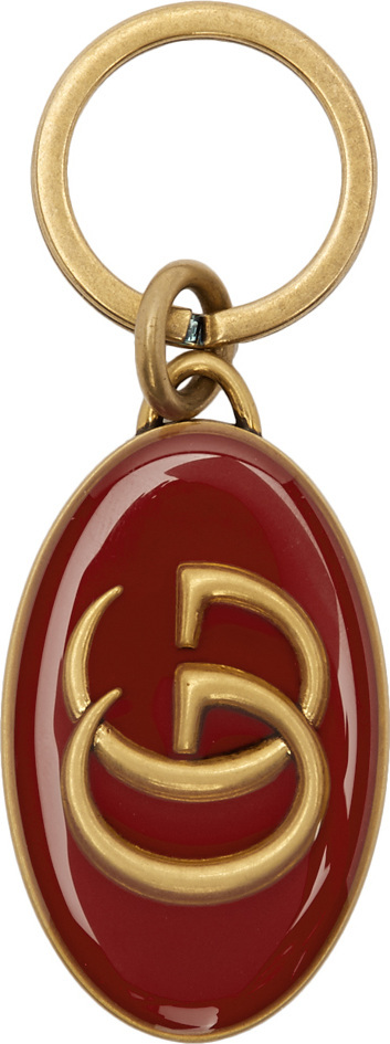 Gucci Red & Gold GG Keychain