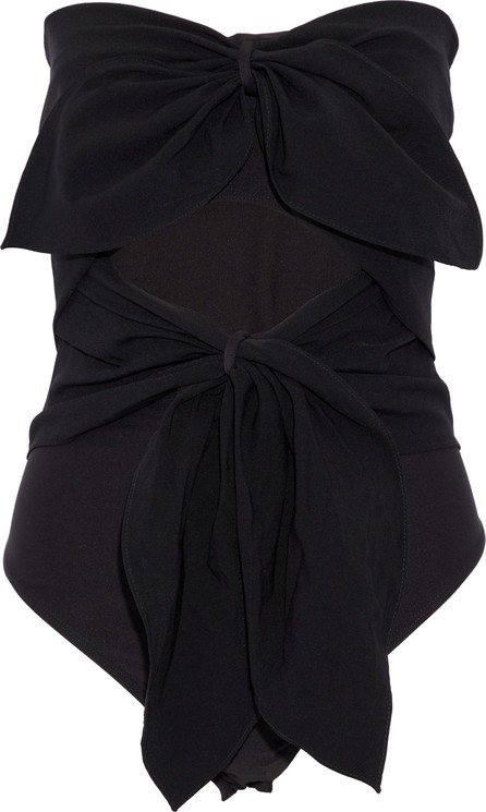 Alix Ellwood strapless cutout knotted crepe bodysuit