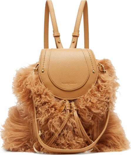 See By Chloé Olga shearling and leather backpack