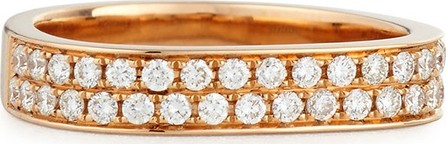 Anita Ko 18K Rose Gold Pave Diamond Band Ring, Size 6