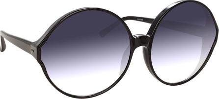 Linda Farrow Round Gradient Acetate Sunglasses