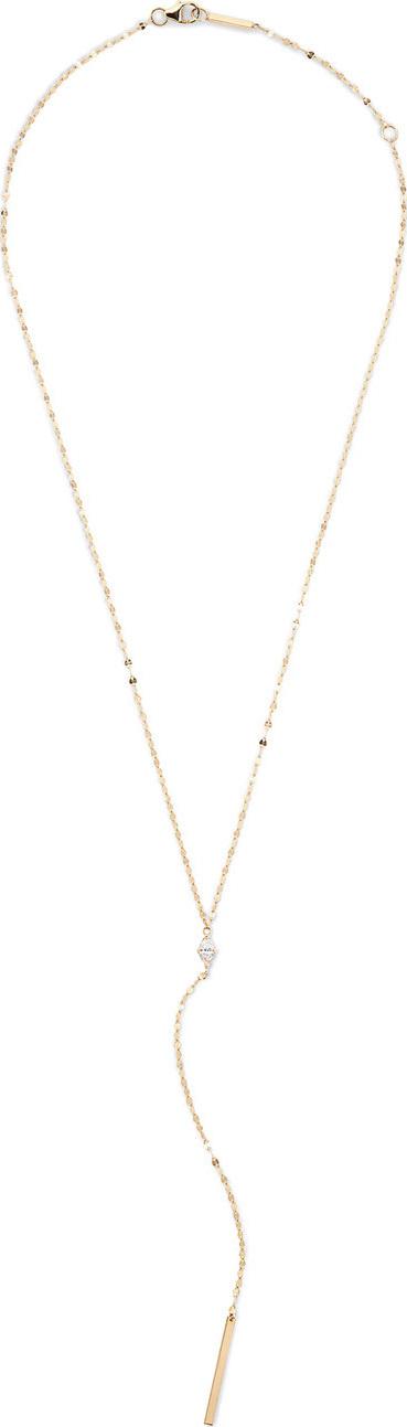 Lana 14k Gold Marquise Diamond Y-Drop Necklace