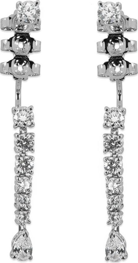 Staurino Fratelli 18k White Gold Linear Diamond Drop Earrings