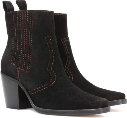 Ganni Clemence suede ankle boots