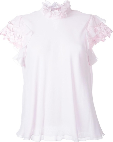 Giambattista Valli pleated collar blouse