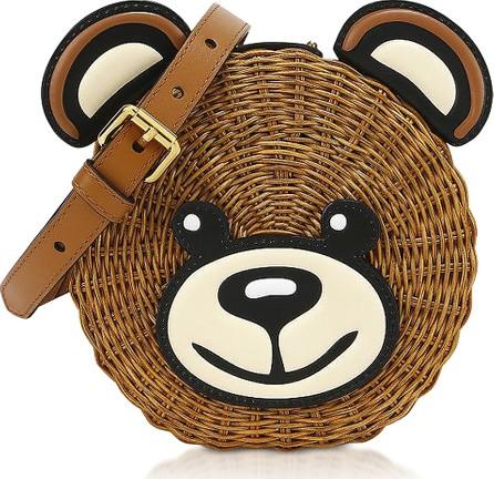 Moschino Teddy Bear Wicker Shoulder Bag