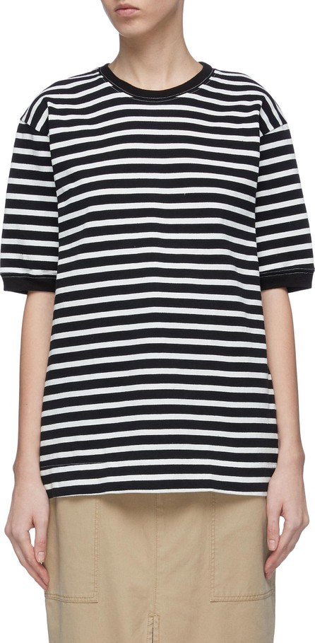 Bassike 'Rugby Vintage' stripe ribbed organic cotton T-shirt