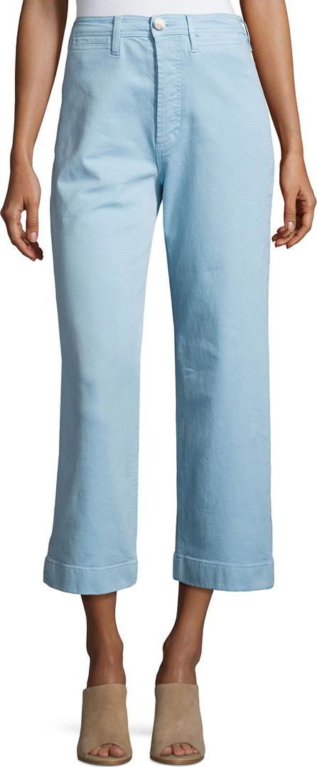 M.i.h Jeans Caron High-Rise Cropped Wide Leg Pants, Blue