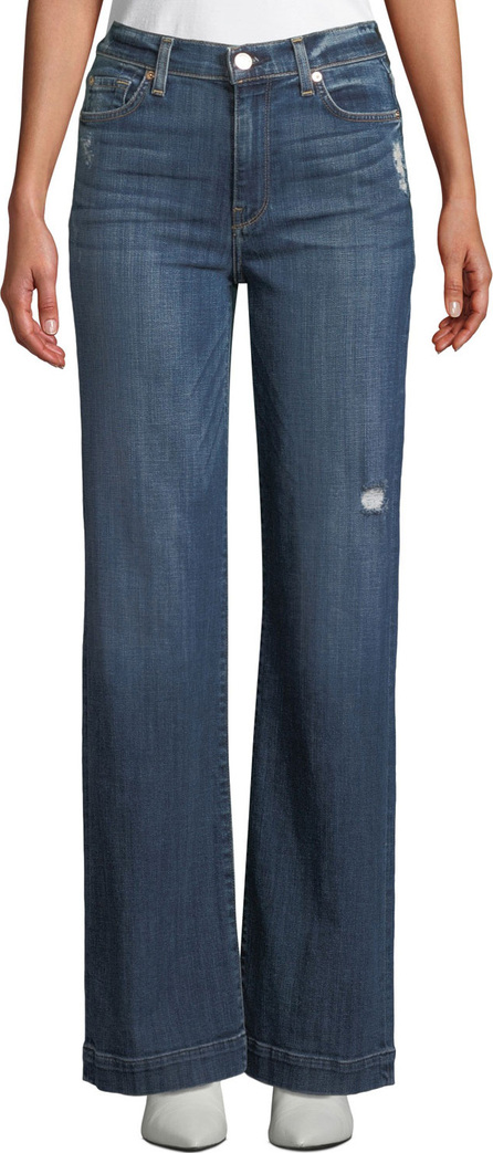 7 For All Mankind Alexa Distressed Wide-Leg Jeans