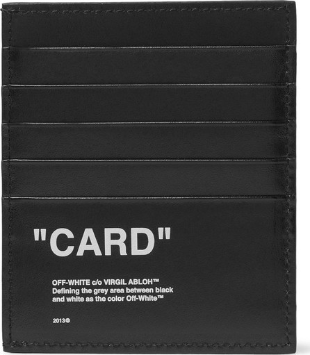 Off White Printed Leather Cardholder