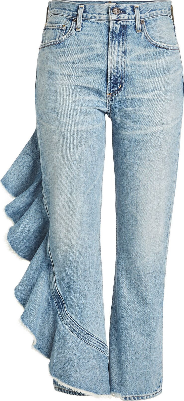 Citizens Of Humanity - Cropped Jeans with Ruffle Trim