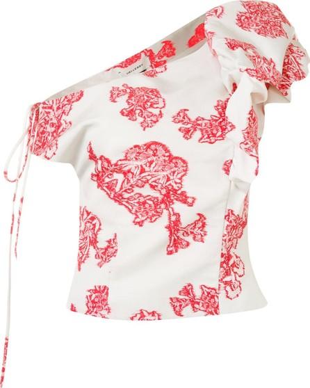 Hellessy One-shoulder jacquard top