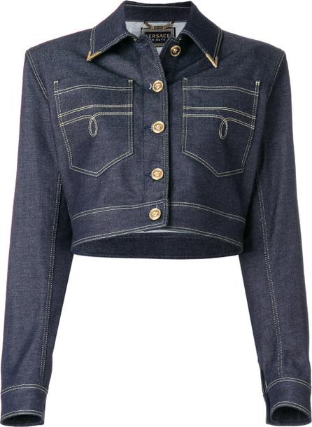Versace Structured denim jacket