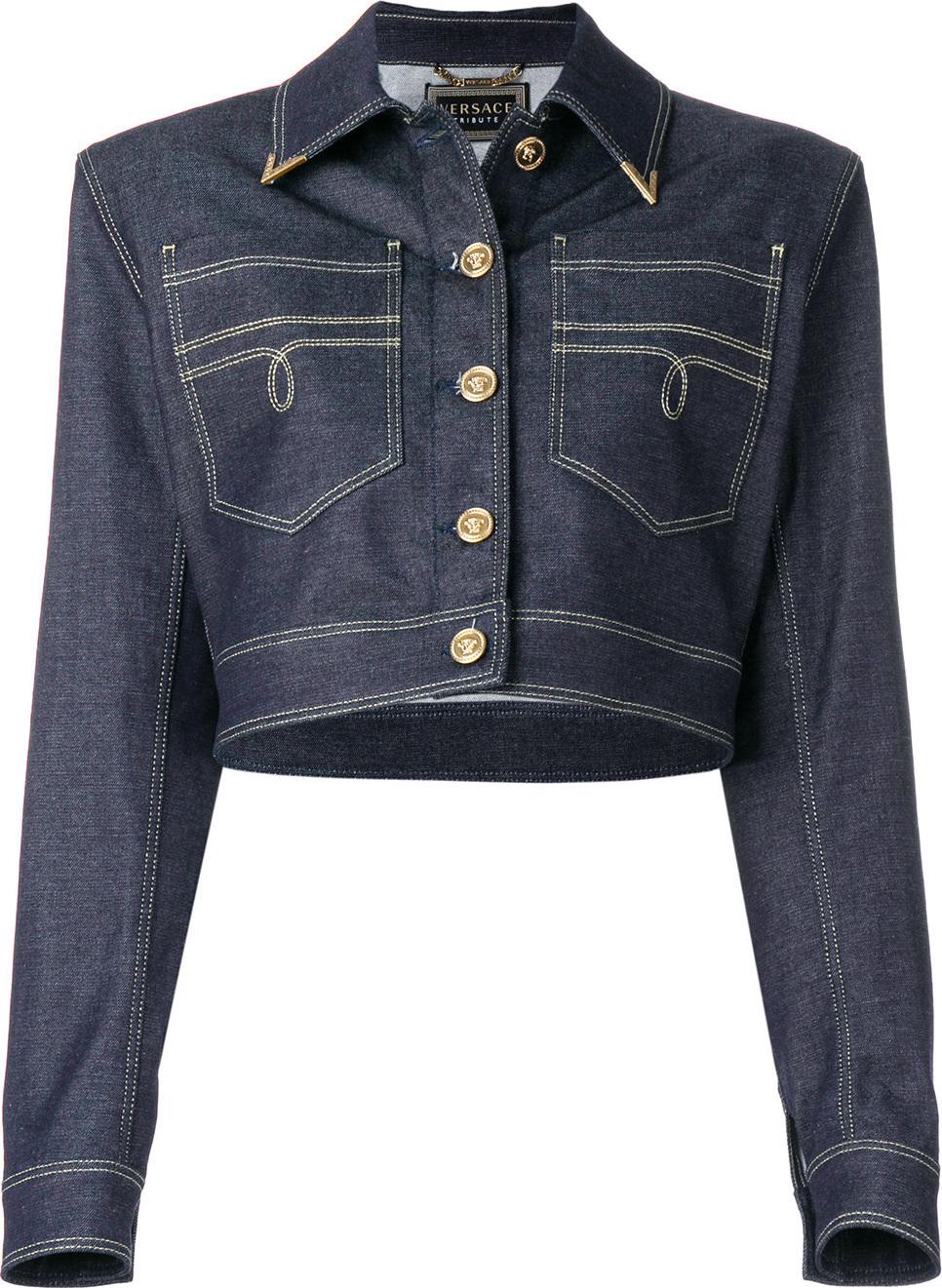 Versace - Structured denim jacket
