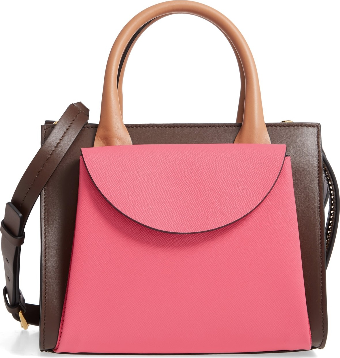 f65db9455922 Marni Small Law Colorblock Leather Top Handle Satchel - Mkt