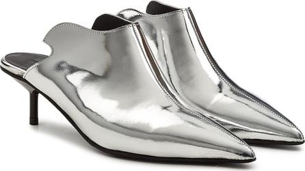Marques'Almeida Metallic Leather Mules