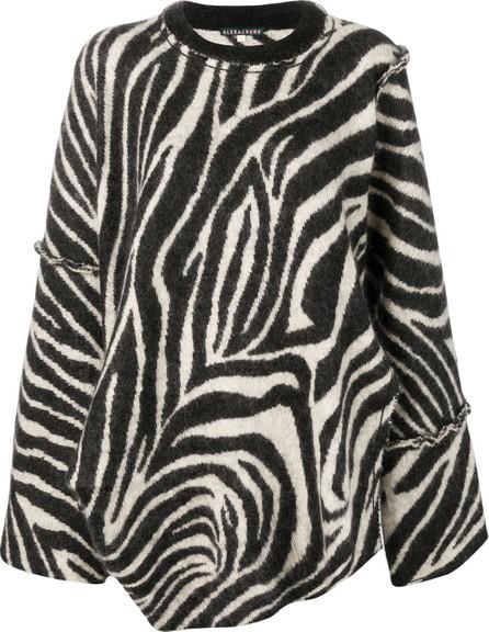 Alexa Chung Oversized zebra print sweater