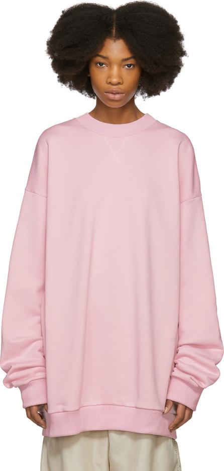 Marques'Almeida Pink Oversized Sweatshirt Dress