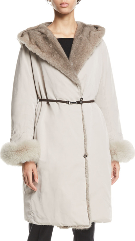 Max Mara Urbaniv Reversible Down & Fur Coat