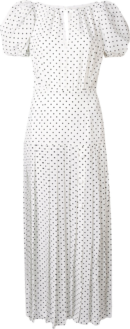 Alessandra Rich Spotted pleated dress