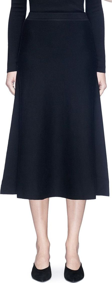 Gabriela Hearst 'Freddie' wool blend knit flared skirt