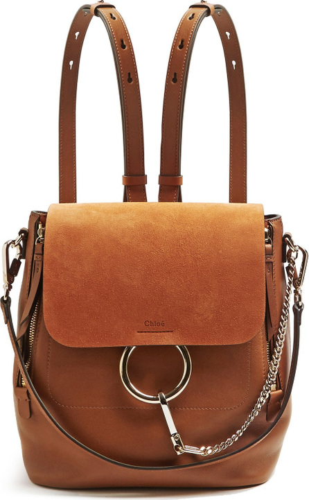 Chloe Faye small suede and leather backpack