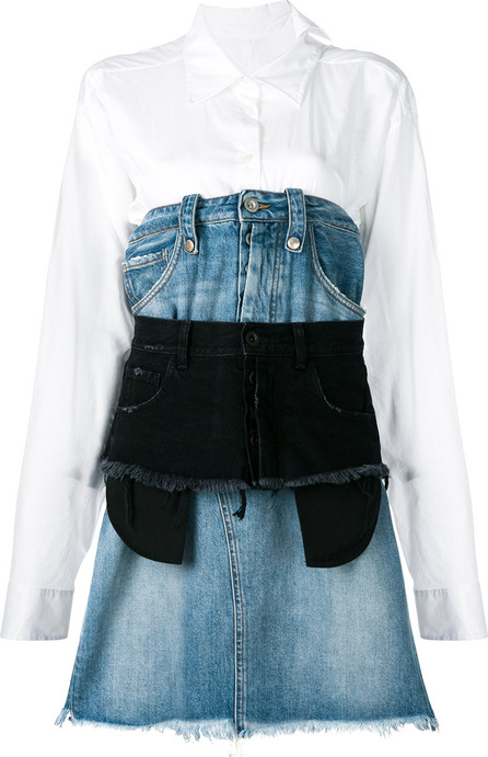 Ben Taverniti Unravel Project Layered denim dress