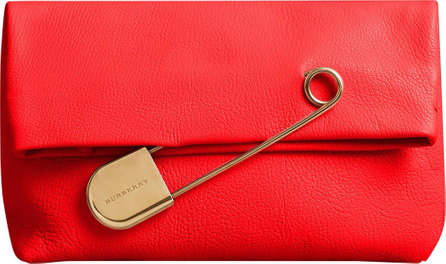 Burberry London England The Medium Pin Clutch in Leather