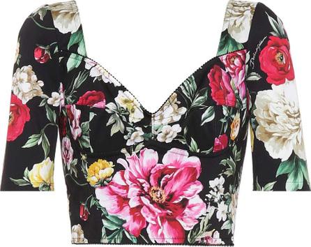 Dolce & Gabbana Floral-printed crop top