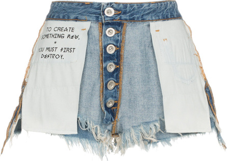 Ben Taverniti Unravel Project Mid rise reverse denim shorts