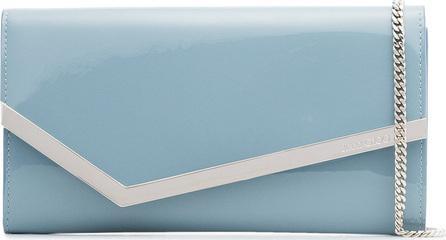 Jimmy Choo Blue Emmie patent leather clutch