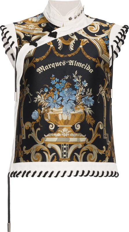 Marques'Almeida Silk Floral Brocade Top